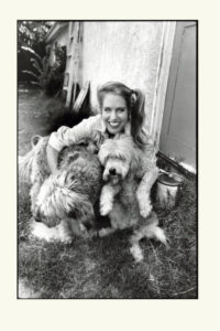 Charlotte Laws and her dogs