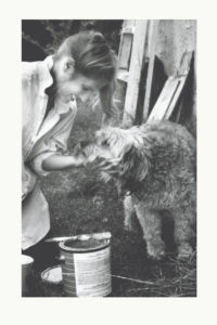 Charlotte Laws with one of her dogs