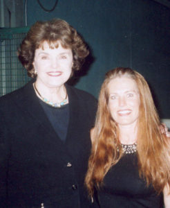 Charlotte Laws and Dianne Feinstein