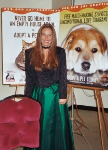 Charlotte Laws at an animal fundraiser